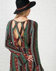 #ARKLOVES cut out detailing in the  Kiss the Sky Portobello Folk Dress