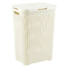 Tall Plastic Laundry Basket Double Duty For Darks And Whites  Laundry Room Ideasinspiration