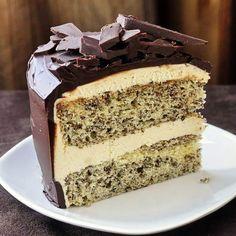 Tweed Cake - my ultimate choice for a showstopper birthday cake with a chocolate flecked vanilla cake, vanilla buttercream frosting and a chocolate ganache finish.