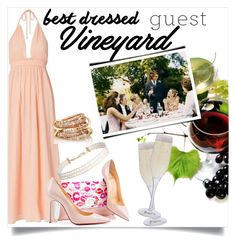 """Vineyard Wedding Guest"" by clotheshawg ❤ liked on Polyvore featuring LoveShackFancy, Christian Louboutin, Humble Chic, SPINELLI KILCOLLIN, Dartington Crystal, napa, winerywedding, bestdressedguest and vineyardwedding"