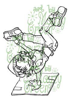 Digi Dancer: Break Dance - Digital Stamp