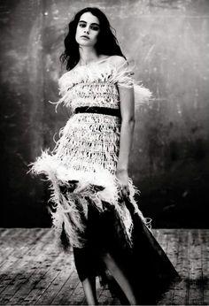 Damaris Goddrie & Luz Sanchez star in Italian Vogue. Paolo Roversi