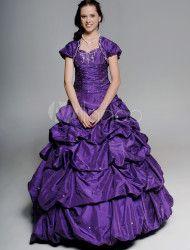 Grape Ball Gown Sweetheart Neck Quinceanera Dress