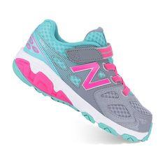 New Balance 680 v3 Toddler Girls' Running Shoes, Grey Other
