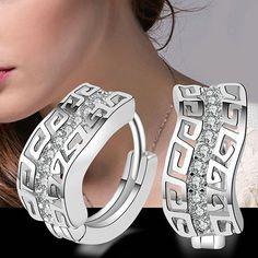 "Women's Silver Plated Crystal Rhinestone Ear Stud Dangle Hoop Earrings Jewelry <a class=""pintag searchlink"" data-query=""%23UnbrandedGenenic"" data-type=""hashtag"" href=""/search/?q=%23UnbrandedGenenic&rs=hashtag"" rel=""nofollow"" title=""#UnbrandedGenenic search Pinterest"">#UnbrandedGenenic</a> <a class=""pintag searchlink"" data-query=""%23Huggie"" data-type=""hashtag"" href=""/search/?q=%23Huggie&rs=hashtag"" rel=""nofollow"" title=""#Huggie search Pinterest"">#Huggie</a>"