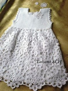 To This 2 of 2 Angels Cradle: Crochet fairytale dress. Beau Crochet, Crochet Girls, Crochet Baby Clothes, Irish Crochet, Crochet For Kids, Crochet Lace, Crochet Dresses, Fairytale Dress, Little Girl Dresses