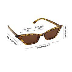 4be88c1a7592d Slim Cat Eye Sunglasses for Women Retro Narrow Frame Skinny Shades Glasses  2018    For