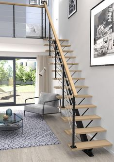 Most people dream of a big house with two or more floors. SelengkapnyaTop 10 Unique Modern Staircase Design Ideas for Your Dream House Modular Staircase, Staircase Design Modern, Narrow Staircase, Home Stairs Design, Floating Staircase, Modern House Design, Spiral Staircases, Staircase Ideas, Staircase For Small Spaces
