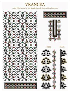 Semne Cusute Cross Stitch Borders, Cross Stitching, Cross Stitch Patterns, Embroidery Motifs, Cross Stitch Embroidery, Beading Patterns, Knitting Patterns, Moldova, Border Design
