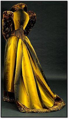 Tea Dress  --  1892  --  Silk, satin, velvet, metallic thread & silk cord  --  Emile Pigant  --  National Gallery of Australia
