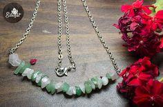Romance combination..  Jade and Rose quartz semi-precious gemstones.  Taurus &  Gemini  Birthstones