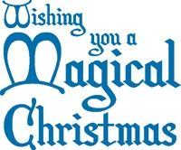 Stamp It Stamp Magical Christmas Woodmount Stamp
