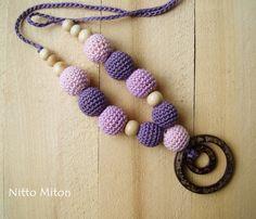 Coconut Ring Nursing Necklace  Crochet Nursing от NittoMiton