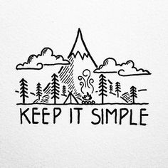 Looking for inspiration in some of my older drawings, I'm often reminded to just keep it simple. By David Rollyn Doodle Drawings, Doodle Art, Easy Drawings, Word Drawings, Doodle Ideas, Doodle Designs, Kiss Tattoos, Keep It Simple, Simple Things