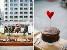Modern Rooftop Wedding: Olivia + Nic