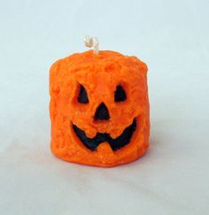 Pumpkin candle grubby candle halloween by NorthernLitesGifts
