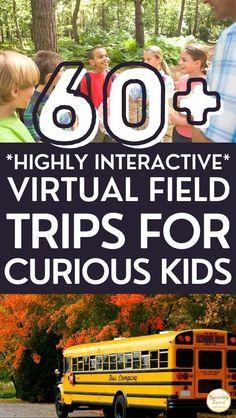 50 Fascinating Virtual Field Trips For Kids | Home School Geography Activities | Kids Activities