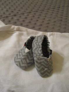 Infant Gray Chevron Toms-inspired shoes by BelinBoutique.  Check out our online store at http:/etsy.com