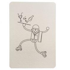 Carte postale à colorier serveur collection Paris, Wistiworld | Baby Prestige
