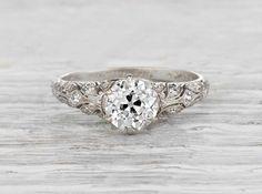 1.05 Carat Edwardian Vintage Engagement Ring    Erstwhile