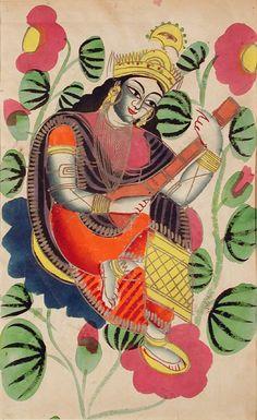 Indian Epics: Images and PDE Epics: Image: Saraswati