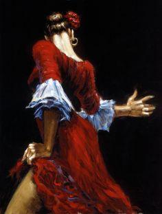 Fábian Pérez - Flamenco Dancer III