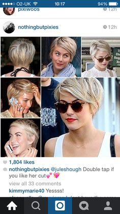 Julianne Hough pixie cut