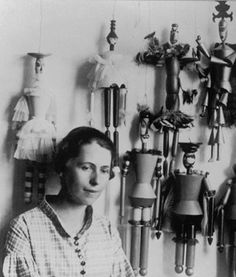 Sophie Taeuber (1889-1943) with her puppets, 1 9 1 8, Zurich. Photo by Ernst Linck.