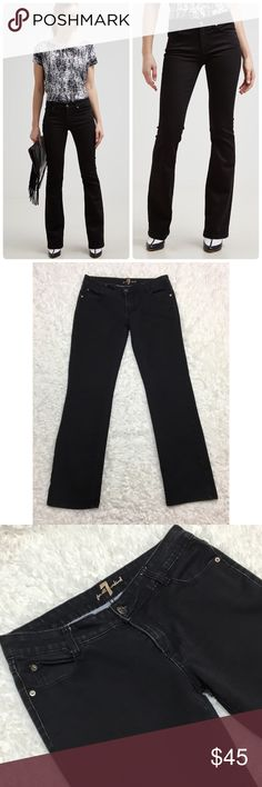 7FAM Black Bootcut Jean Women Size 31 Long : G 7 for all mankind black Denim Bootcut Jeans women's size 31 good used condition  Approximate measurements  ▪️Hip to Hip 16 inches  ▪️Inseam 31 inches  Thank you for checking out my closet! Offers are always welcome or bundle for bigger savings. If you have any questions feel free to ask! 7 For All Mankind Jeans Boot Cut