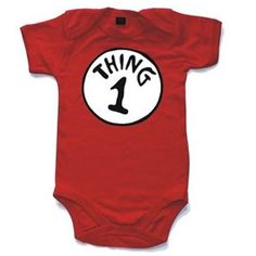 Look out for a cat in a hat! - Thing 1 Thing 2 Baby Onesies