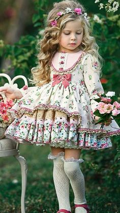 Little Girl Dresses, Girls Dresses, Flower Girl Dresses, Baby Dresses, Dress Girl, Little Girl Fashion, Kids Fashion, Vintage Baby Mädchen, Vintage Kids Clothes