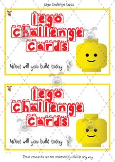 Teacher's Pet Activities & Games » Lego Challenge Cards » EYFS, KS1, KS2 classroom activity and game resources » A Sparklebox alternative
