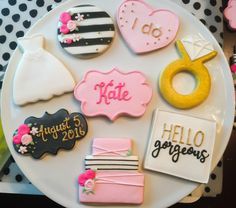 Kate Spade Inspired Bridal Shower Cookies / by ShopCookieCouture