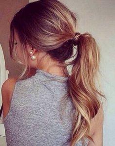 Dark Hair with Ponytail