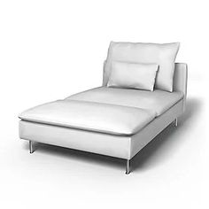 Söderhamn, Sofa Covers, Chaise Longue, Regular Fit using the fabric Panama Cotton Silver Grey Söderhamn Sofa, Ikea Sofa, Diy Sofa, Cushions On Sofa, Couch, Sofas, Furniture Covers, Sofa Covers, Chambray