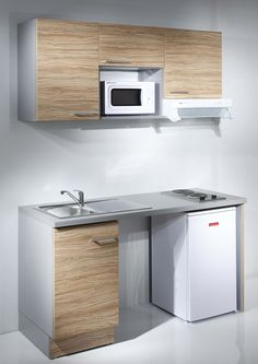Meuble kitchenette cuisine pinterest kitchenettes for Kitchenette pour bureau