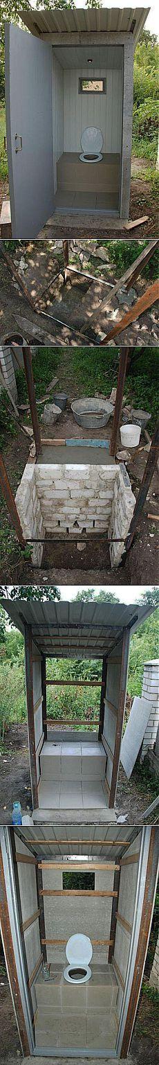 Туалет на даче с подручных материалов | Самоделкино