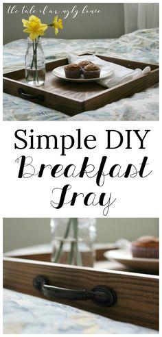 DIY breakfast tray for beginners. Free plans!