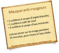 Argile blanche : masque anti rougeurs