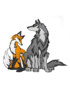 The fox and the wolf by Novaa240 on DeviantArt
