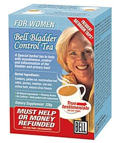 Bell Lifestyle - Bladder Control Tea for Women (30 Tea Bags) It is always time for a Tea-Dox. A favorite blend to cleanse and strengthen an overactive bladder particularly in women is the Bell Bladder Control Tea which is a healing mix of uva ursi, parsley, cranberry, marshmallow, and stinging nettles.