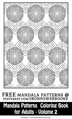 Mandala Pattern Coloring Pages for Adults: Mandalas Coloring Book (Mandala Patterns Coloring Book) (Volume Blank Coloring Pages, Colouring Sheets, Pattern Coloring Pages, Mandala Coloring Pages, Free Printable Coloring Pages, Coloring Pages For Kids, Coloring Books, Mandala Pattern, Pattern Art