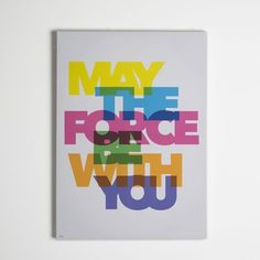 Star Wars Neon May the Force Be With You Printed Canvas