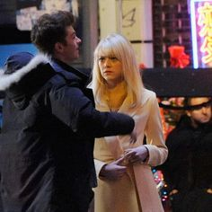 The Amazing Spider-Man 2 Chinatown Photos with Emma Stone and Andrew Garfield -- Director Marc Webb continues to shoot this highly-anticipated superhero sequel in and around New York City this week. -- http://wtch.it/d0Vtk