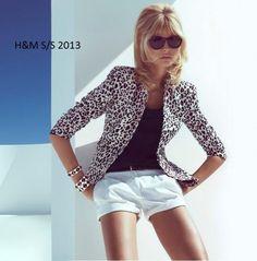 Dalla collezione primavera estate 2013 di HM, giacca con motivo animalier