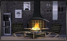 "Lana CC Finds - Set furniture and decor ""Blues"" by Maruska-Geo"