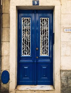 Here is a door in the Colour of the Year Classic Blue