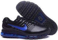 Nike Air Max+2017 Mens Basketball Shoes Black sapphire blue 849559-011  7976a131b38fc