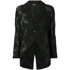 Comme Des Garçons Lace Blazer (£510) ❤ liked on Polyvore featuring outerwear, jackets, blazers, blazer jacket, comme des garçons, lace jacket, comme des garcons blazer and lace blazer jacket