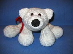 Amigurumi Flurry the Polar Bear Crochet Pattern, my very first pattern.